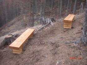 防火帯上部のベンチ