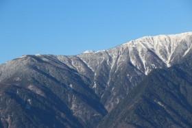 06桜峠からの塩見岳s