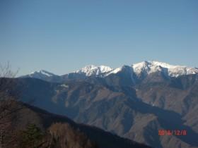 桜峠からの南部南アルプス