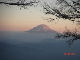 下山時櫛形山からの富士